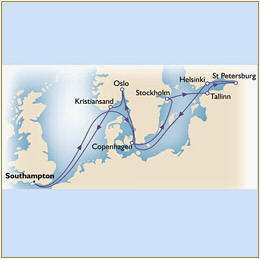 CUNARD QUEEN VICTORIA QV Cunard Map CUNARD QUEEN VICTORIA QV 2021 Southampton to Southampton