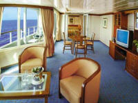 CRUISES - Balconies/Suites Regent Seven Seas Cruises: Voyager 700 Guests, Mariner 700 Guests, Navigator 490 Guests, Paul Gauguin 320 Guests
