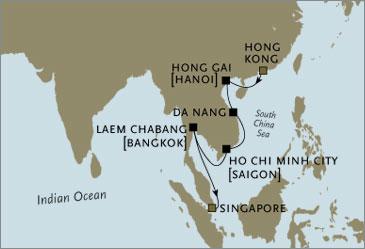 Seven Seas Voyager Regent Singapore Hong Kong