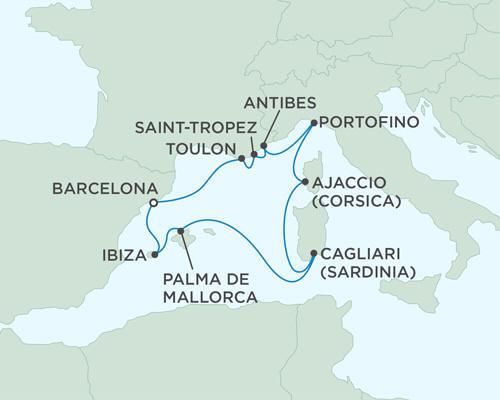 Cruises Seven Seas Mariner July 2-12 2015 - 10 Days