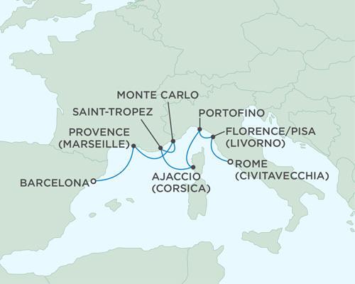 LUXURY CRUISES - Balconies and Suites Cruises Seven Seas Mariner July 12-19 2018 - 7 Days