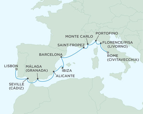 LUXURY CRUISES - Balconies and Suites Cruises Seven Seas Mariner August 17-27 2018 - 10 Days