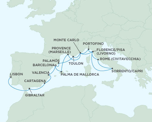 LUXURY CRUISES - Balconies and Suites Cruises Seven Seas Mariner October 14-31 2018 - 17 Days