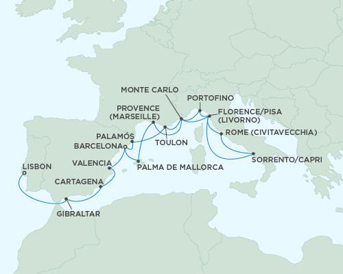 World CRUISE SHIP BIDS Seven Seas Mariner October 14-31 2023 - 17 Days