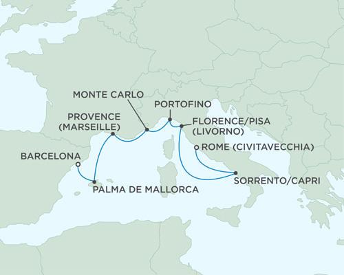 Cruises Seven Seas Mariner October 14-21 2015 - 7 Days