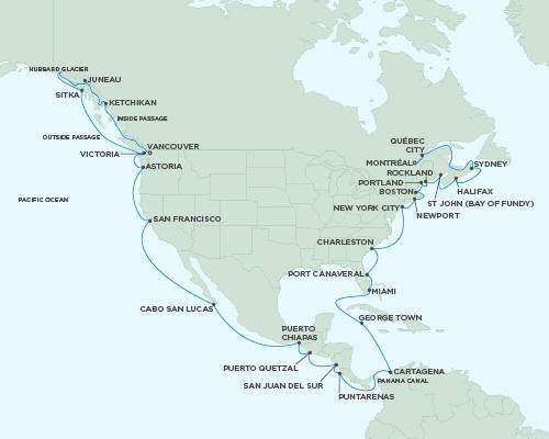 ALL SUITE CRUISE SHIPS - August 26 October 7 2018 - 42 Days