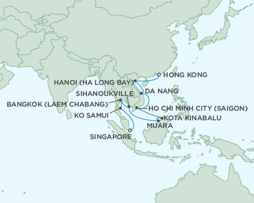 ALL SUITE CRUISE SHIPS - Regent Seas Seas Voyager Cruises January 18 February 5 2015 - 18 Days