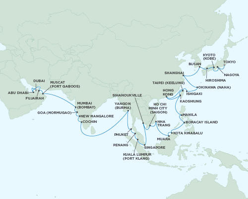 ALL SUITE CRUISE SHIPS - Regent Seas Seas Voyager Cruises March 11 May 3 2015 - 53 Days