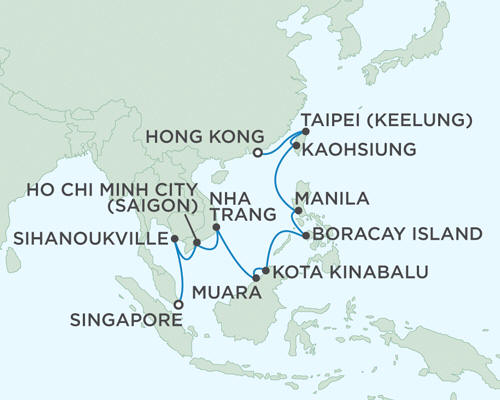 ALL SUITE CRUISE SHIPS - Regent Seas Seas Voyager Cruises March 27 April 13 2015 - 17 Days