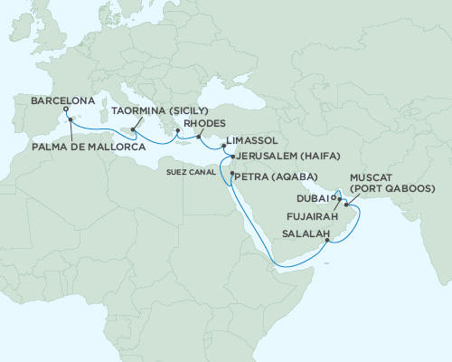 ALL SUITE CRUISE SHIPS - Regent Seas Seas Voyager Cruises May 3-23 2015 - 20 Days