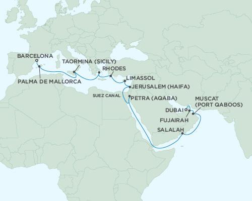LUXURY CRUISES - Balconies and Suites Regent Seas Seas Voyager Cruises May 3-23 2018 - 20 Days