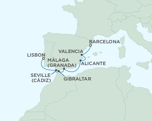 LUXURY CRUISES - Balconies and Suites Regent Seas Seas Voyager Cruises May 23-30 2018 - 7 Days