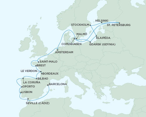 ALL SUITE CRUISE SHIPS - Regent Seas Seas Voyager Cruises September 20 October 12 2015 - 22 Days