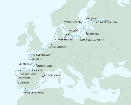 LUXURY CRUISES - Balconies and Suites Regent Seas Seas Voyager Cruises September 20 October 12 2018 - 22 Days