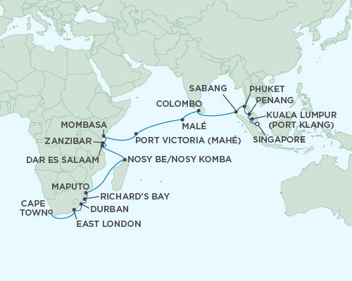 ALL SUITE CRUISE SHIPS - Regent Seas Seas Voyager Cruises December 21 2022 January 18 2022 - 28 Days