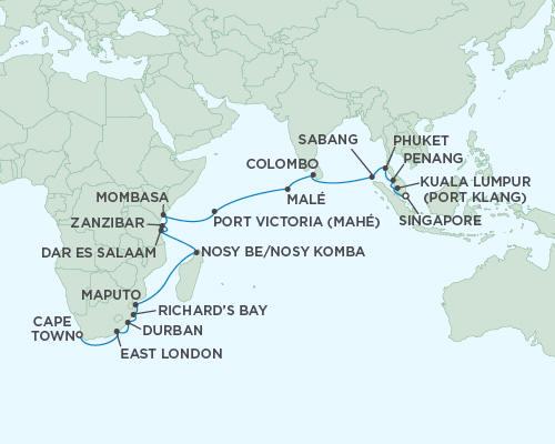 LUXURY CRUISES - Balconies and Suites Regent Seas Seas Voyager Cruises December 21 2018 January 18 2019 - 28 Days