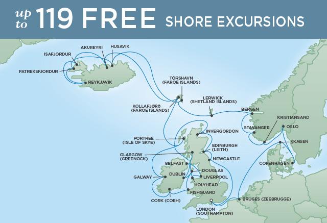 Regent/Radisson Luxury Cruises CELTIC INSPIRATION | 37 NIGHTS | DEPARTS JUN 18, 2019 |  Navigator