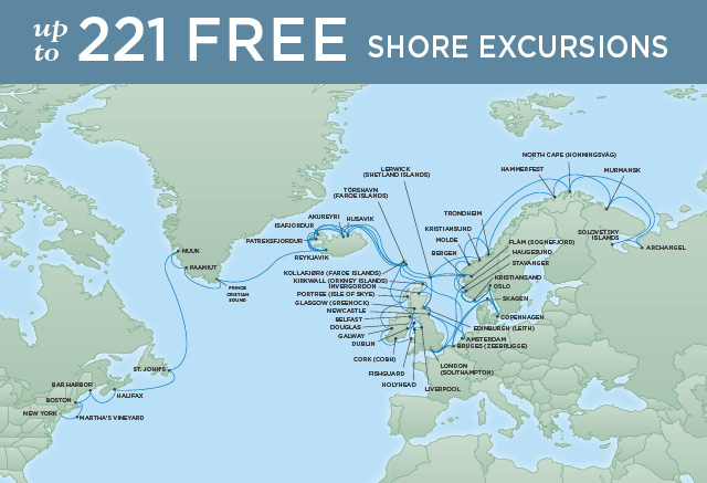 7 Seas Luxury Cruises GRAND ARCTIC QUEST | 77 NIGHTS | DEPARTS JUN 18, 2022 | Seven Seas Navigator