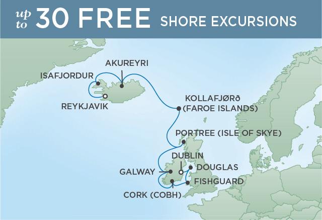Regent/Radisson Luxury Cruises ICELAND SUMMER SOJOURN   12 NIGHTS   DEPARTS JUN 29, 2021    Navigator