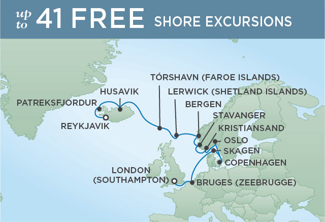 7 Seas Luxury Cruises FROM NORSEMEN TO ROYALS | 14 NIGHTS | DEPARTS JUL 11, 2022 | Seven Seas Navigator