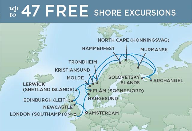 Regent/Radisson Luxury Cruises NORWAY EXPLORATION | 20 NIGHTS | DEPARTS JUL 25, 2019 |  Navigator