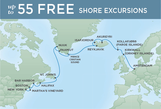 GRAND NORTH SEA CROSSING | 20 NIGHTS | DEPARTS AUG 14, 2019 | Seven Seas Navigator