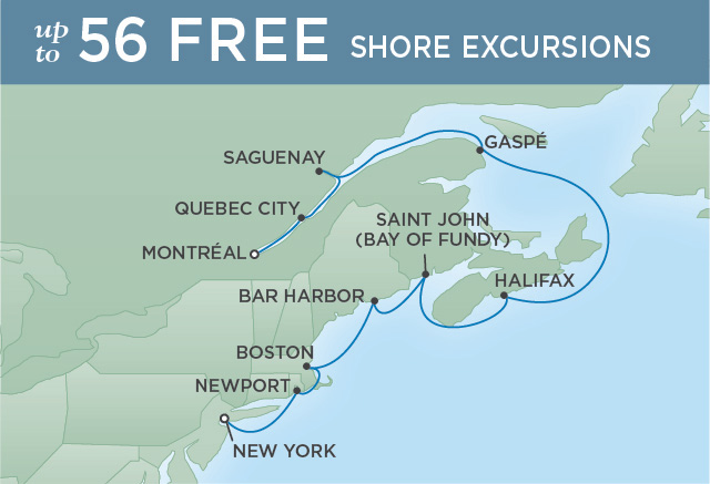 SPIRIT OF NEW ENGLAND | 10 NIGHTS | DEPARTS SEP 03, 2019 | Seven Seas Navigator