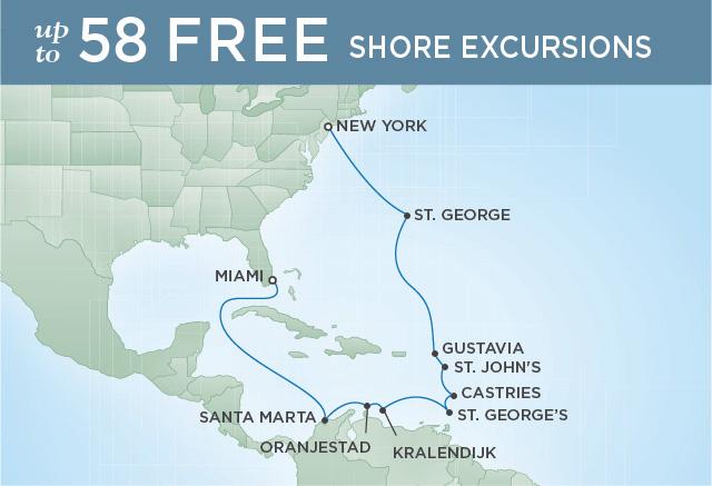 Regent/Radisson Luxury Cruises PINK SANDS & CRYSTAL SEAS | 15 NIGHTS | DEPARTS NOV 04, 2021 |  Navigator