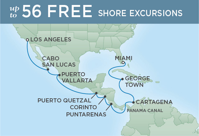 CARTEGENA, CABO AND THE CANAL | 16 NIGHTS | DEPARTS NOV 19, 2019 | Seven Seas Navigator
