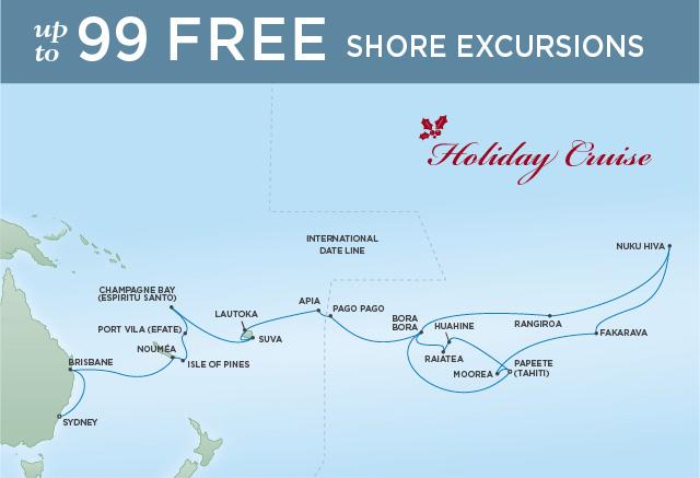Regent/Radisson Luxury Cruises PEARLS OF THE PACIFIC | 31 NIGHTS | DEPARTS DEC 23, 2019 |  Navigator