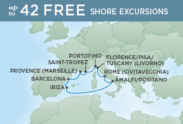Itinerary Map Super fast lower price quotes - Email or Phone call. Do not option your REGENT SEVEN SEAS VOYAGER Cruise ANYWHERE ELSE before you CONTACT US.