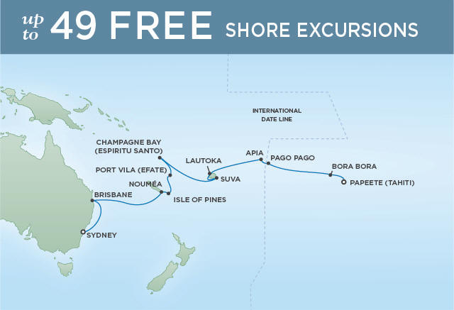 Regent/Radisson Luxury Cruises PACIFIC ISLAND ADVENTURE | 20 NIGHTS | DEPARTS JAN 03, 2020 |  Navigator