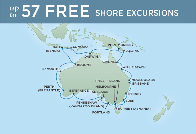 REGENT CRUISES CIRCLE AUSTRALIA | 36 NIGHTS | DEPARTS JAN 23, 2020 | Seven Seas Navigator