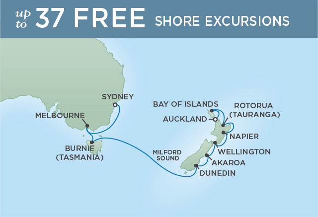 NEW ZEALAND SPLENDOR | 14 NIGHTS | DEPARTS FEB 28, 2020 | Seven Seas Navigator