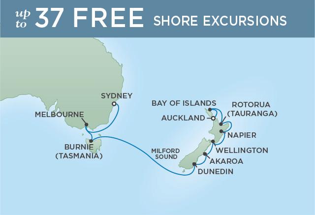 REGENT CRUISES NEW ZEALAND SPLENDOR | 14 NIGHTS | DEPARTS FEB 28, 2020 | Seven Seas Navigator