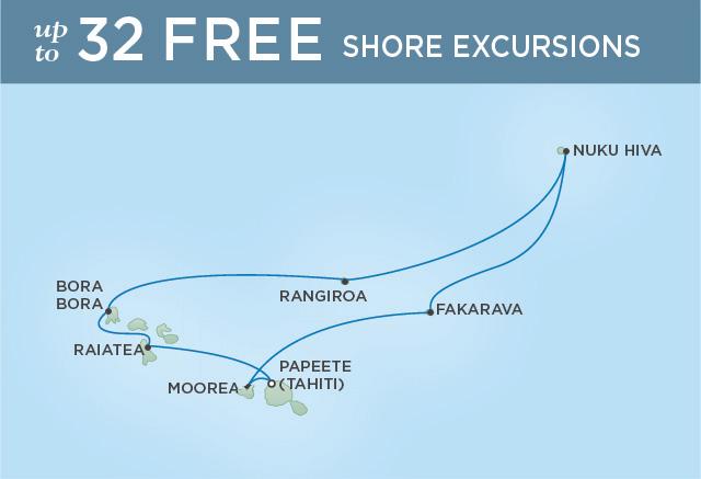 REGENT CRUISES BEYOND THE BLUE LAGOON | 10 NIGHTS | DEPARTS MAR 28, 2020 | Seven Seas Navigator