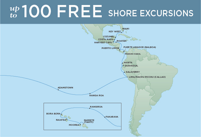 Regent/Radisson Luxury Cruises AZURE OCEAN RHAPSODY   34 NIGHTS   DEPARTS APR 07, 2020    Navigator