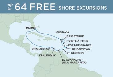SINGLE Cruise - Balconies-Suites Map Regent Explorer 2019 December 4-18 2019 - 14 Nights Miami to Miami
