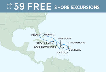 SINGLE Cruise - Balconies-Suites Map December 18-28 2019 - Regent Explorer 2019 10 Nights Miami to Miami
