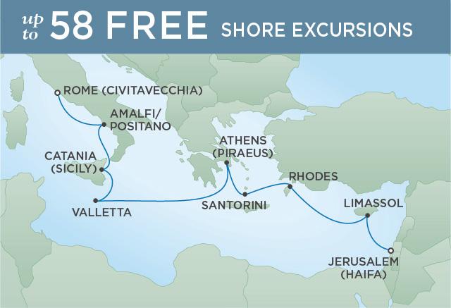 Regent/Radisson Luxury Cruises DIVINE MEDITERRANEAN | 10 NIGHTS | DEPARTS APR 16, 2019 |  Voyager