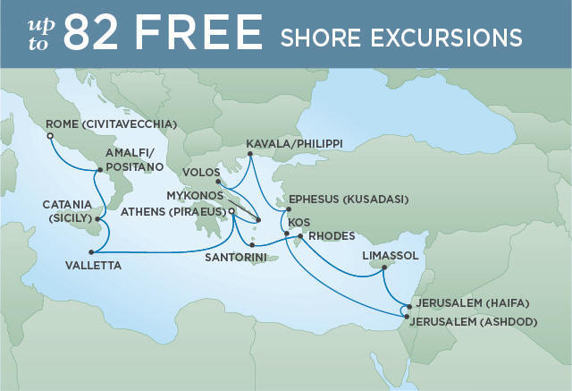 AEGEAN ALLURE | 18 NIGHTS | DEPARTS APR 16, 2019 | Seven Seas Voyager