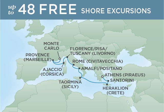 Regent/Radisson Luxury Cruises UMPTUOUS FRENCH RIVIERA | 10 NIGHTS | DEPARTS MAY 04, 2019 |  Voyager