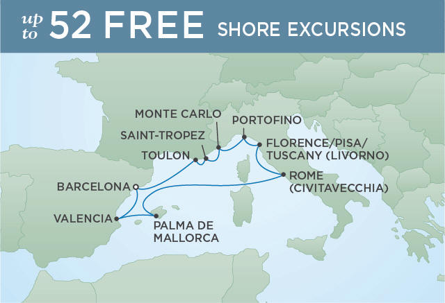 Regent/Radisson Luxury Cruises RETURN OF THE RENAISSANCE | 10 NIGHTS | DEPARTS MAY 24, 2019 |  Voyager