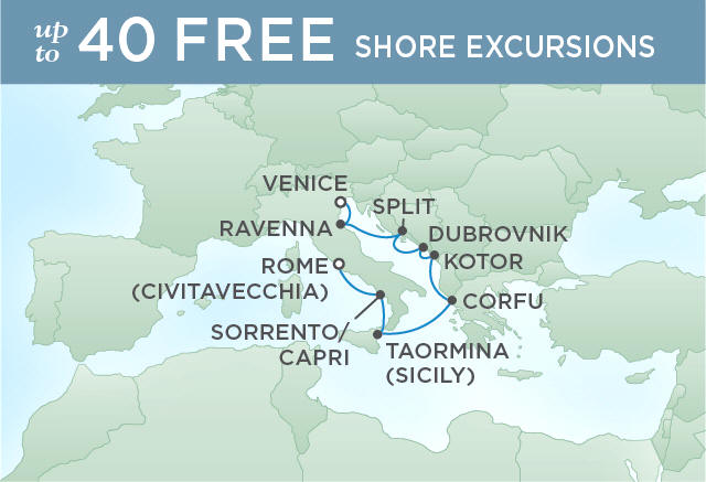 SAPPHIRE WATERS, GRAND CITY WALLS | 8 NIGHTS | DEPARTS JUL 14, 2019 | Seven Seas Voyager