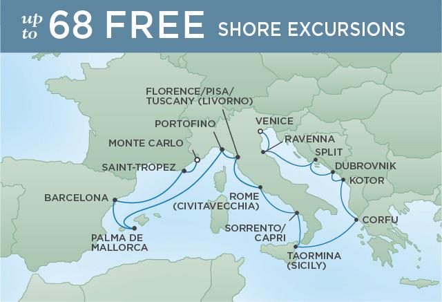 Regent/Radisson Luxury Cruises CLASSICAL EXPLORATIONS | 15 NIGHTS | DEPARTS JUL 14, 2019 |  Voyager