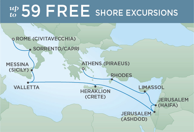 Regent/Radisson Luxury Cruises HOLY LAND TO VATICAN CITY | 12 NIGHTS | DEPARTS SEP 26, 2019 |  Voyager