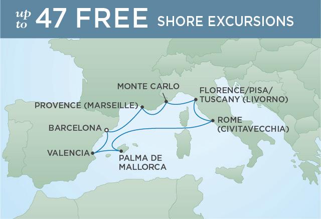 Regent/Radisson Luxury Cruises MEDITERRANEAN MASTERPIECE | 8 NIGHTS | DEPARTS OCT 18, 2019 |  Voyager