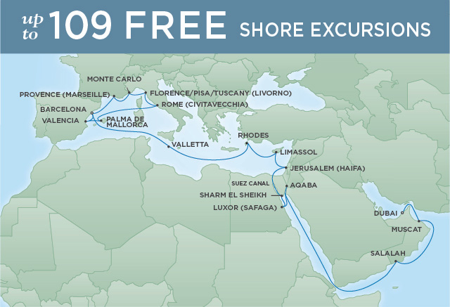 SERENE MEDITERRANEAN | 29 NIGHTS | DEPARTS OCT 18, 2019 | Seven Seas Voyager