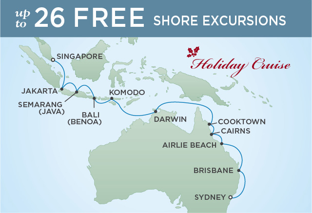 Regent/Radisson Luxury Cruises THE GREATNESS OF AUSTRALIA | 18 NIGHTS | DEPARTS DEC 20, 2019 |  Voyager