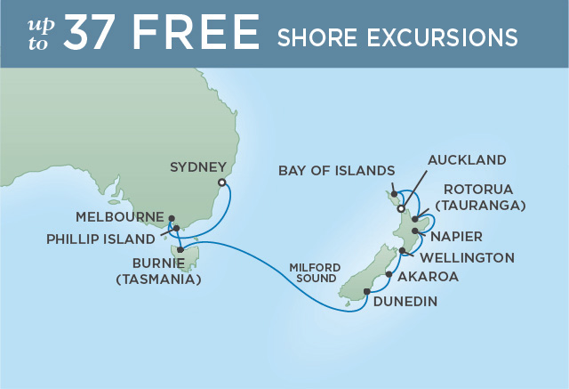 REGENT CRUISES WINELANDS DOWN UNDER | 14 NIGHTS | DEPARTS JAN 07, 2020 | Seven Seas Voyager
